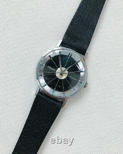NIVADA Aqualux Ultra-Slim Vintage Watch Grenchen Art Deco 1970s Polerouter Rare