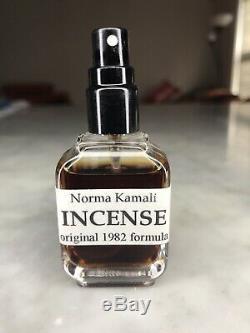 NORMA KAMALI INCENSE 1982 Formula Fragrance Scent Vintage Ultra Rare 100% Real