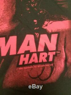 NWOT VTG 90s WWF Bret Hit Man Hart Official Shirt XL Ultra Rare Single Stitch