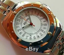 New Old Stock Ultra Rare Vostok 24 Hour 2423 Movement Vintage Manual Watch