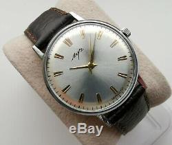 New Ultra Slim Ussr Made Luch Poljot De Luxe Wrist Watch 2209 Movement Rare