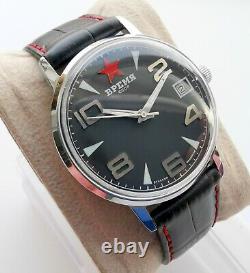 New Vintage Old Stock Poljot Ultra Rare Ussr Time Mechanical Watch 2614 Movement