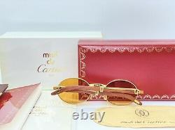 Occhiali Vintage Cartier Giverny Wood Ultra Rare Sunglasses Lunettes Brille