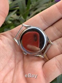 Omega 2605/8 Stunning Vintage Watch Steel ARACNO CASE Ultra Rare Cal 266