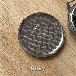 Omega Coin Case Ultra Rare 26.5 Vintage Watch Calatrava Men Steel Stunning
