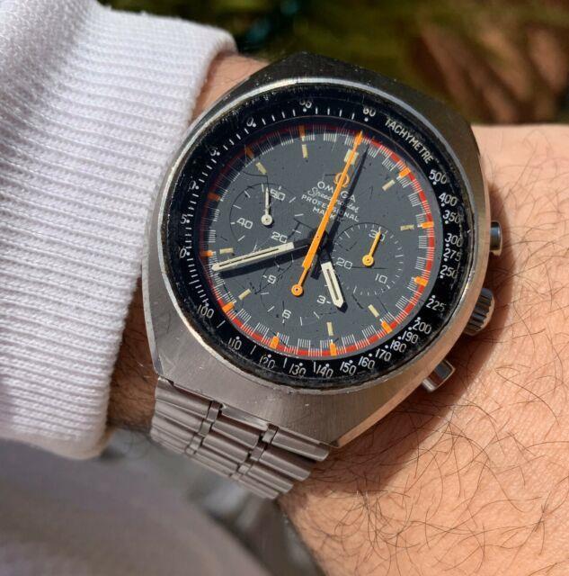 Omega Speedmaster Mark Ii 2 Tropical Racing Dial Ultra Rare Watch Vintage Chrono