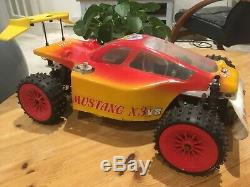 PB Mustang xi3 4x4 vintage 1/8th ultra rare buggy