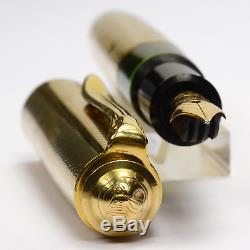 PELIKAN 520 NN Entirely Gold Plated Vintage Fountain Pen Germany 1955 ULTRA RARE