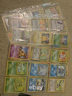 Pokemon Cards COMPLETE 100% Base set 102/102 Ultra Pro VINTAGE RARE Charizard