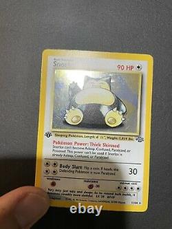 Pokémon Jungle Snorlax 11/64 Holo 1st Edition Near Mint Vintage WOTC