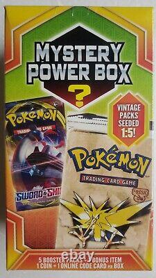 Pokemon Mystery Power Box 5 Booster Packs Fossil Vintage Factory Sealed New