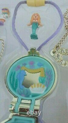 Polly pocket Golden Gift Set Mermaid Earrings Necklace, Roadster Ring ULTRA Rare