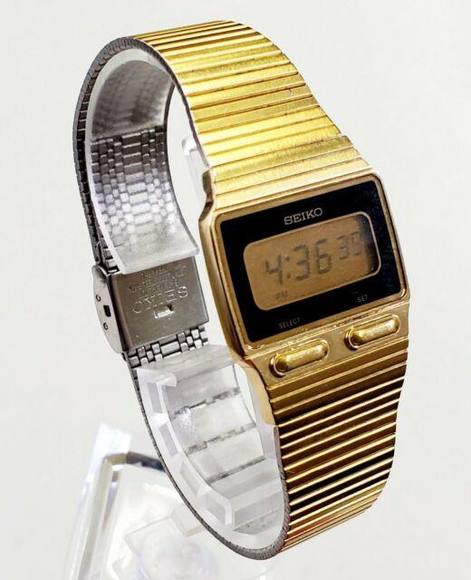 Rare, Unique Men's Vintage 1980's Digital Ultra Slim Watch Seiko F231-4019