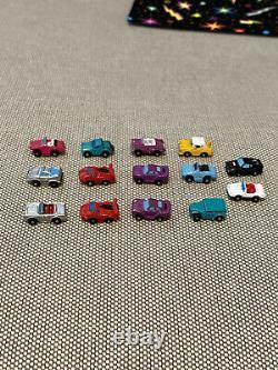 RARE Vintage Galoob Mini Micro Machines 14 Lot Ultra Small Ferrari Corvette