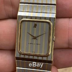 Rare 1970s, Audemars Piguet Ultra Slim, Retro Tank Style Stainless and 18K Watch