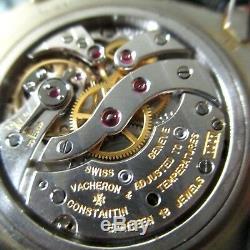 Rare Vacheron Constantin Ultra Slim 4667 vintage 1950s white gold mens watch