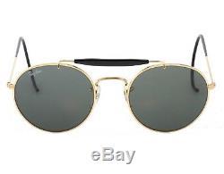 RayBan B&L Bausch + Lomb NOS round gold and black aviator sunglasses, ultra rare