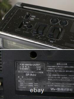 SHARP 5P-R2U VINTAGE BOOMBOX BUILT IN 5 TV ULTRA RARE JP MODEL Parts Or Repairs