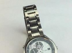 Seiko Panda Alarm Chronograph 7t32-7C60. Ultra rare gents vintage watch