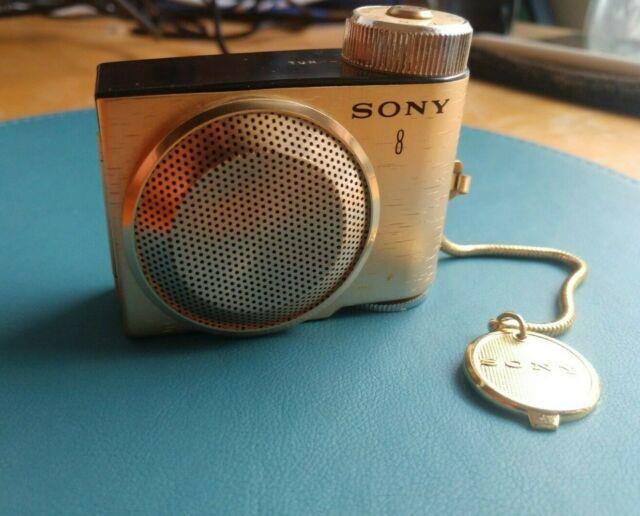 Sony Tr 8 Mini Transistor Radio Vintage Gold Plated Ultra Rare