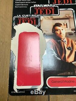 Star Wars Vintage Ultra Rare Tri Logo General Madine Card Back 100% Original