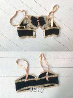 True vintage Billet Doux silk lingerie set 1920s bra and bloomers ULTRA RARE