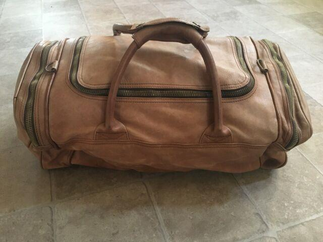 Tumi Columbian Ultra Rare Vintage Leather Zip Carry On Weekend Duffel Bag