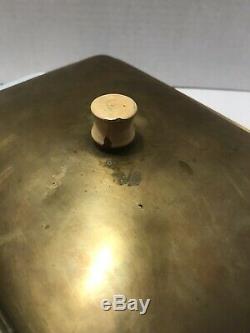 ULTRARAREVintage Pyrex Rodney Kent STARLINE Black 0503 1½ Qt Dish/Lid Brass