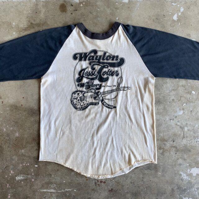 Ultra Rare 70s Vintage Waylon Jennings The Waylors T-shirt Sz S Willie Nelson