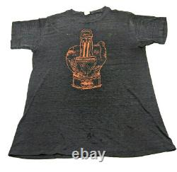ULTRA RARE 70s Vintage Harley Davidson Paper Thin Distressed T Shirt Sons Akron