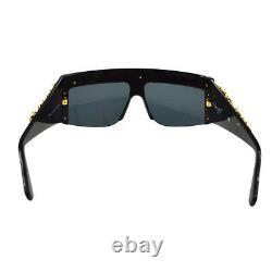 ULTRA RARE! Auth CHANEL CC Chain Sunglasses Black Eye Wear Vintage AK17338d