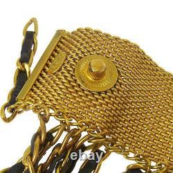 ULTRA RARE! Auth CHANEL Vintage CC Logos Fringe Bracelet 94A France AK16794b