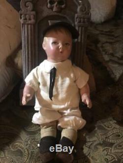 ULTRA RARE Boy Doll Composition 14 INTAGLIO EYES WHISTLER RESTORED