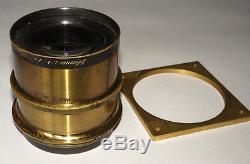 ULTRA RARE FAST CARL ZEISS JENA PLANAR 230 mm F4 VINTAGE BRASS LENS 1.3 KG