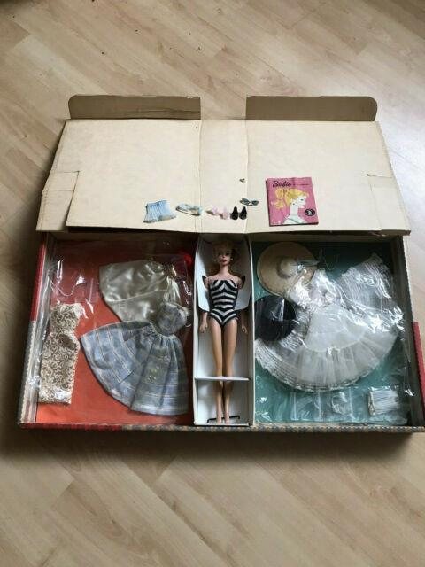 Ultra Rare First Vintage Barbie #856 Gift Set Complete With #4 Barbie