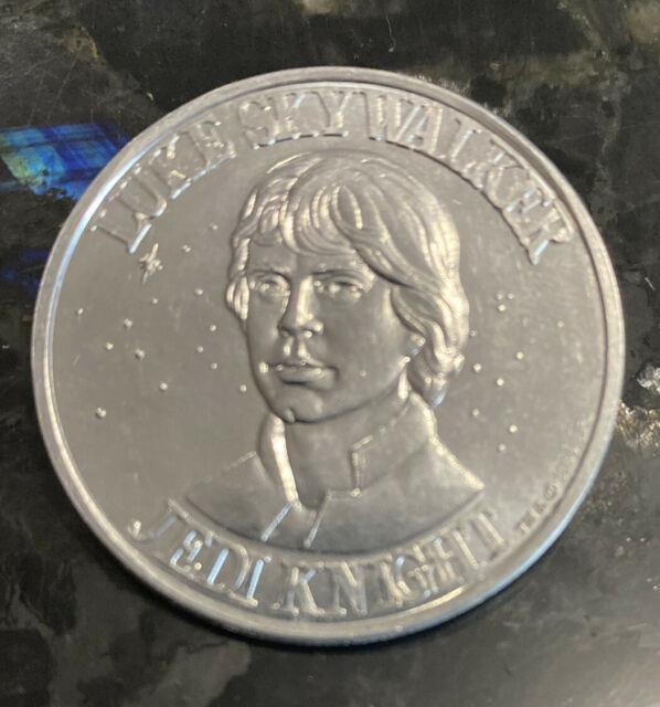 Ultra-rare Kenner Star Wars Potf Coin Luke Skywalker Jedi Knight 1984 Vintage
