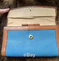ULTRA RARE-Mediterranean Blue Vintage Dooney & Bourke AWL Wallet