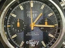 ULTRA RARE Military Heuer Carrera Chronograph FAPLA Angola 110.573 Barrel Case