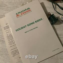 ULTRA RARE Mr. Christmas Holiday Song Birds Action Lights Music Box Vintage Flaw