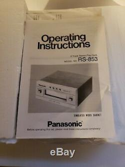 ULTRA RARE NOS NEW Vintage Panasonic RS-853 8 Track Stereo Play Deck System