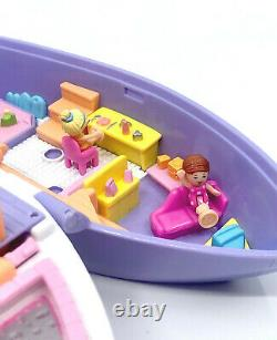 ULTRA RARE Polly Pocket Fun Cruise 1997 COMPLETE MINT Vacation Bluebird Vintage