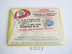 ULTRA RARE VINTAGE 5c 1959 The 3 Three Stooges Card Bubble Gum Wax Pack FLEER