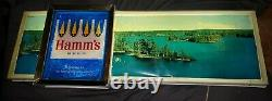 ULTRA RARE VINTAGE HAMM'S 1960s PANORAMIC LIGHTED BEER SIGN ORIGINAL WEST COAST
