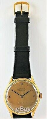 ULTRA RARE VINTAGE SWISS WATCH CORTEBERT CHRONOMETRE GOLD CIRCA 1930´s