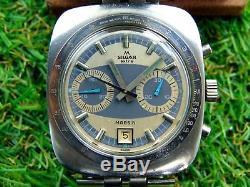 ULTRA RARE VINTAGE SWISS WATCH SILGAR EXTRA MARS 71 CHRONO 1970s VALJOUX 7734