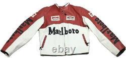 ULTRA RARE Vera Pelle Italy Marlboro Racing Vintage Leather Motorcycle Jacket