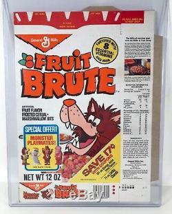 ULTRA RARE Vintage 1975 General Mills Fruit Brute Monster Cereal Box MINT FLAT