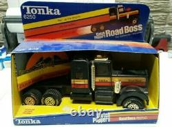 ULTRA RARE Vintage 1982 Tonka CLUTCH POPPERS Road Boss Tractor Black Hawk NIB
