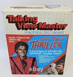 ULTRA RARE Vintage 1984 MICHAEL JACKSON'Thriller' 3-D Talking View-master, NEW