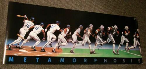 Ultra Rare Vintage Bo Jackson Metamorphosis Nike Poster Raiders Royals Nfl Mlb